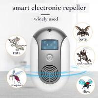 Smart Ultrasonic Pest Repeller CF/VF Mode Electronic Rats Bats Mosquito Killer