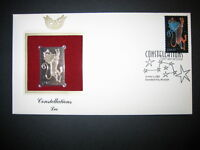 2005 Constellations Leo First Day FDI FDC Replica 22kt Gold Golden Cover Stamp