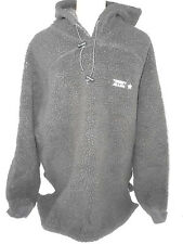 Tommy Hilfigher Sheep Skin Fleece Hoodie Mens Sweatshirt Jacket Size XL Gray