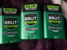3 Brut Classic Scent for Man Anti-Perspirant Deodorant Stick 2 oz