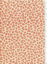 2001 mary engelbreit ~ SWEET RED FLOWER on CREAM ~ fabric stripe polka dots