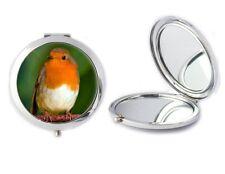 Robin Pájaro Espejo Compacto Ideal Damas cumpleaños regalo de Día de las madres T75