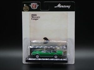 1968 MERCURY COUGAR XR7 2021 M2 MACHINES DRIVERS GREEN CHASE 1/750 R76 21-19