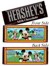 12 Mickey Mouse Clubhouse Birthday Party Hershey Candy Bar Wrappers And Friends