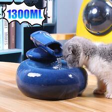 1.3L Ceramic Automatic Pet Cat/Dog Water Fountain Dispenser Drinking Bowl Dish