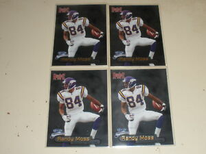 Lot of 4 - 1998 Fleer Brilliance Rookie #140 Randy Moss RC