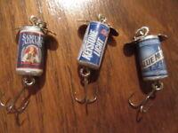 Keystone Light Blue Moon Samuel Adams Beer Promotional Spinner Fishing Lures