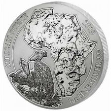 SHOEBILL - RWANDA LUNAR OUNCE - 2019 1 oz Pure Silver Coin - Sealed