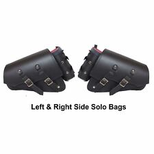 LEFT & RIGHT SIDE SWING ARM SOLO BAGS  FOR HARLEY SOFTAIL HERITAGE DEUCE - DV9K