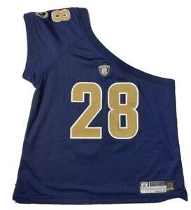 NFL Reebok Women's Size Large Marshall Faulk Off Shoulder Jersey On Field Rams