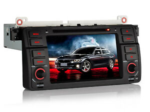 """7"""" DVD Navigazione Autoradio GPS MP3 Stereo USB DVR 1DIN Per BMW 3 E46 1998-2006"""