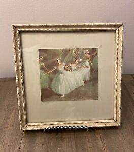 Vintage Small Framed Print Of Ballerinas
