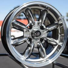 15x7 Rota RB 4x114.3 +4 Royal Hyper Black Wheels New Set