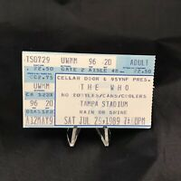 The Who Tampa Stadium Florida Concert Ticket Stub Daltrey Vintage July 1989