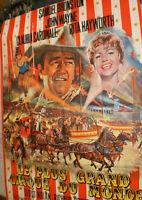 XXL Filmplakat,PLAKAT,CIRCUS WORLD,LE PLUS ..JOHN WAYNE,R HAYWORTH,CARDINALE-36