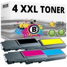 4x XL TONER für DELL C3700 C3760DN C3760N C3765DNF 4CHT7 FMRYP 40W00 F8N91 SET