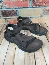 Teva Terra Water Sport Brown Leather Adjustable Strap Sandals Hiking Mens 11.5
