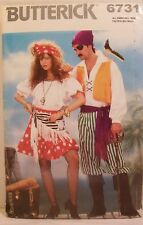 Butterick Pattern 6731 Pirate Halloween Costumes Sizes Miss XS-L Men 30-44 New