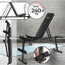 Banc de Musculation Multifonction Pliable Réglable Inclinable Fitness Gym
