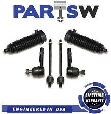 6 Pc Steering Kit for Explorer & Explorer Sport Trac Tie Rod Ends & Gear Bellows