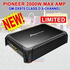 PIONEER GM-DX975 CLASS D 5 CHANNEL AMPLIFIER WITH WIRED BASS BOOST REMOTE NEW!