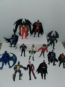 LOT of 13 90s  DC Comics Batman and Robin Action Figures Kenner