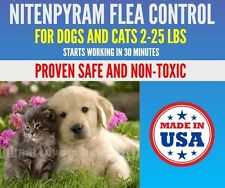 24 Capsules Flea Killer 12mg Cats Dogs 2-25 lbs & FAST Flea Control