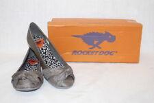"NIB ROCKET DOG Raw Iron Silver ""Mini Thai Silk"" Ballet Flats Womens Size 8M-B111"