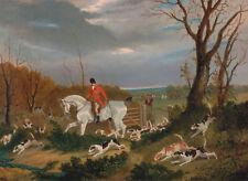 """John Frederick Herring : """"Suffolk Hunt: Going to Cover"""" (1833) — Fine Art Print"""