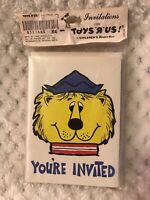 """Vintage Pack Of Toys """"R"""" Us You're Invited Lion Party Birthday invitations NOS"""