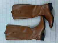 Sam & Libby Size 6 Perry Riding Boots Cognac Brown Tall  Equestrian Womens