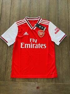 Adidas Arsenal Home Red White Soccer Jersey Size L Youths Only
