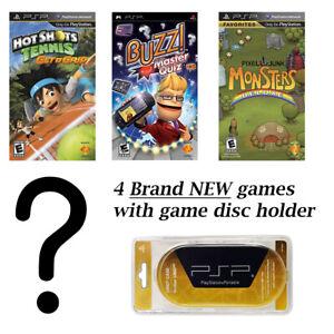 PSP MEGA 4 Game Bundle with Free UMD Case Holder - Game 4 Surprise Mystery!