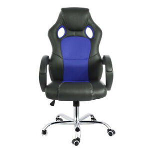 Home Seat Computer Game Office Racing Chair Deluxe Leather Gas Lift Swivel Tilt