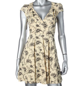 Denim & Supply Ralph Lauren Beige Cut-Out Casual Dress AU16 US12
