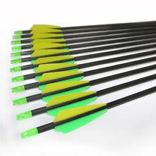 """12X Carbonpfeile 30"""" Spine 400 für Bogen Archery Komplettpfeile Recurvebogen"""
