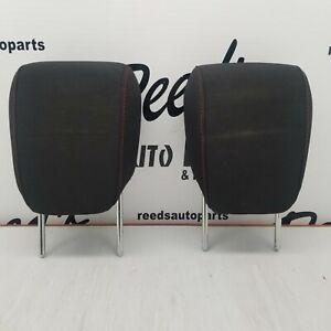 10-17 TERRAIN EQUINOX REAR SEAT 2ND ROW HEADREST SET HEAD RESTS BLACK RED CLOTH
