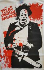 TEXAS CHAINSAW MASSACRE CULT CLASSIC HORROR FILM MOVIE WHITE CANVAS BACK PATCH
