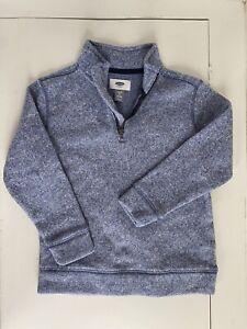 Old Navy Boys Half Zip Blue Sweater Size Xs 5 Euc