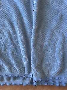 2 Ralph Lauren Textured Bath Towels Blue Rose Floral Blemished See Details