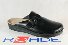 Rohde Men's Mules Clogs Sabot Black Real Leather New