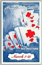 American Red Cross~Flags~Answer the Call!~Illinois Central Railroad~1953 Fund PC