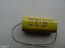 1,5 µF 1.5 MFD 1.5 uF 100 V Marshall CONDENSATORE 3,8 X 1,7 x 1.3 cm Nuovo1 PC