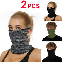 2/3 PCS UV Protection Sun Bandana Neck Gaiter Face Cover Scarf Headband Hiking