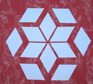 """2"""" -  5"""" DIAMOND SHAPE - PAPER TEMPLATES FOR ENGLISH PAPER PIECING"""