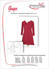 Ginger Raglan Kleider Schnittmuster Größe 36 - 44  Mehrgrößenschnitt mit Naht
