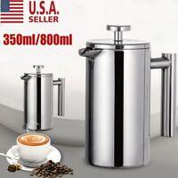 12 Oz/27 Oz French Press Coffee Maker Double Wall Stainless Steel Utopia Kitchen