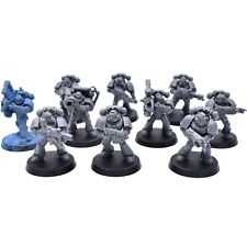 Warhammer 40K Space Marine Mark MK IV Tactical Squad x 10 Unpainted