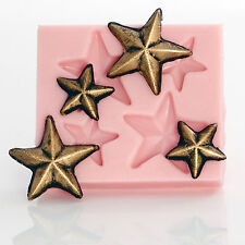 Star Mold - flexible silicone mold, jewelry, resin, clay, food safe mold   (902)
