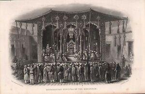 1858 Britannique Empire Inde Imprimé ~ Mohammedan Festival De The Mohurrum
